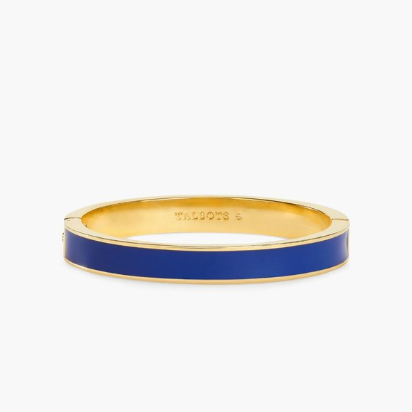TALBOTS classic Enamel bangle blue and gold